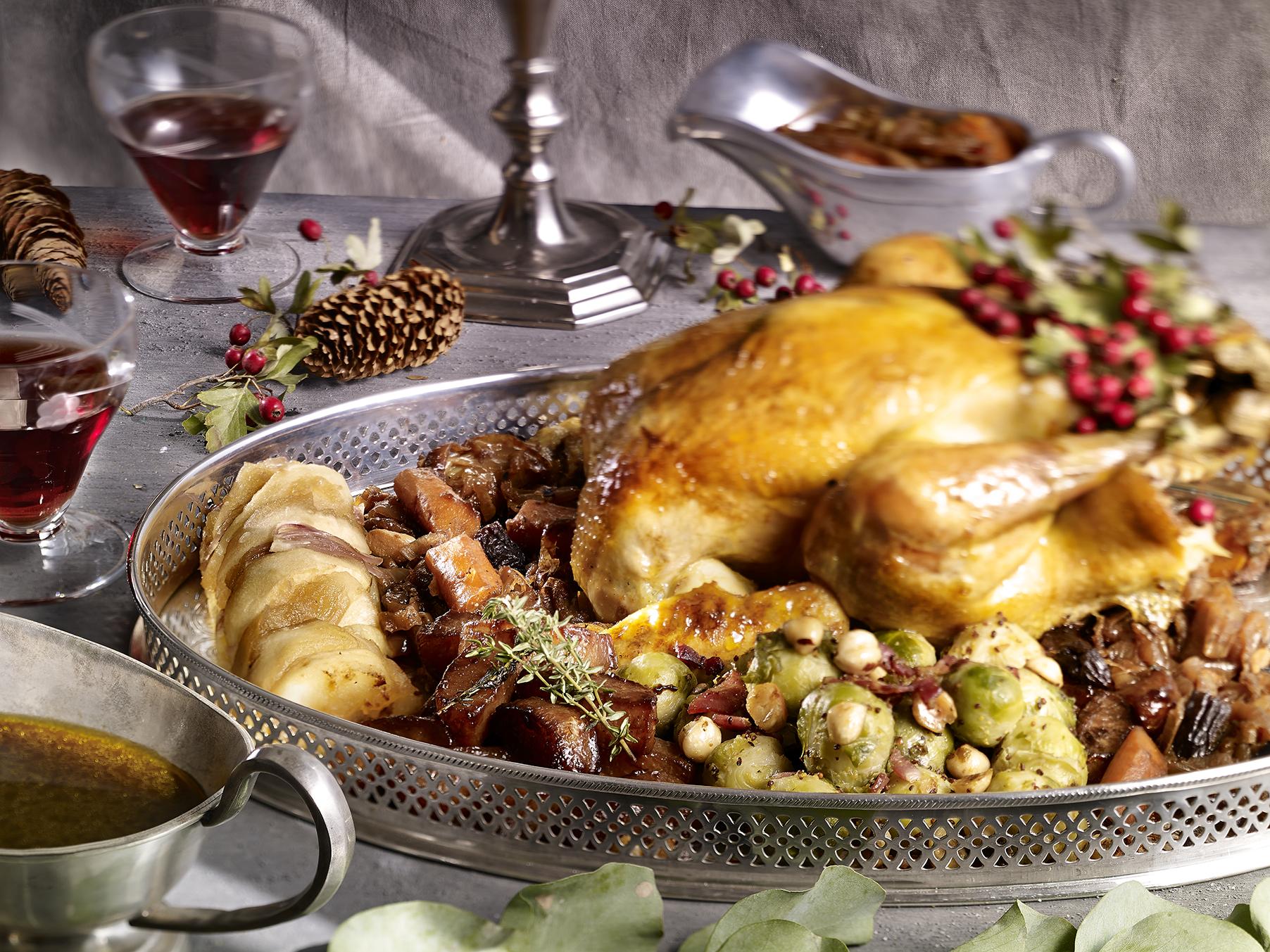 Pavo de navidad y sus acompa amientos escuela de cocina - Pavo con castanas ...