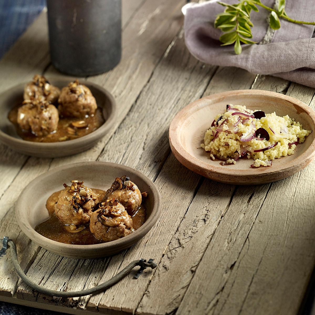 Albóndigas con salsa de trufa