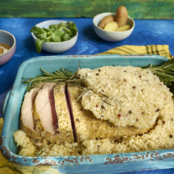 Lomo de cerdo en costra de sal Escuela de Cocina TELVA Recetas