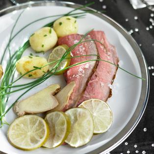 Roast-beef con limas y jengibre