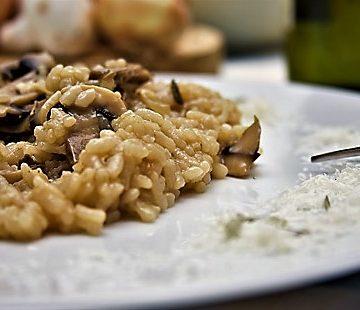 Curso de arroces turno de noche - Risotto con setas - Escuela de cocina TELVA