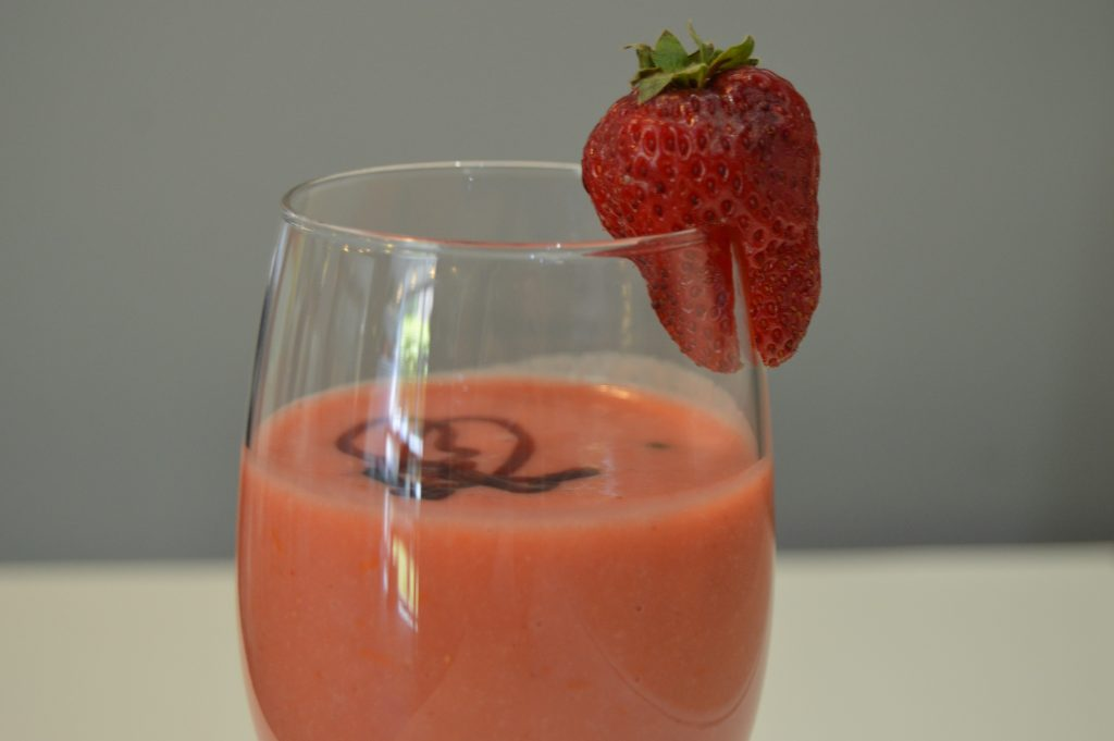 Gazpacho de fresas - Recetas que salen - Mis cinco tenedores - Sesé San Martín - Escuela de cocina TELVA