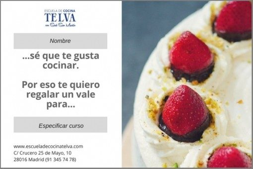 Bonos de clase de cocina - Escuela de cocina TELVA