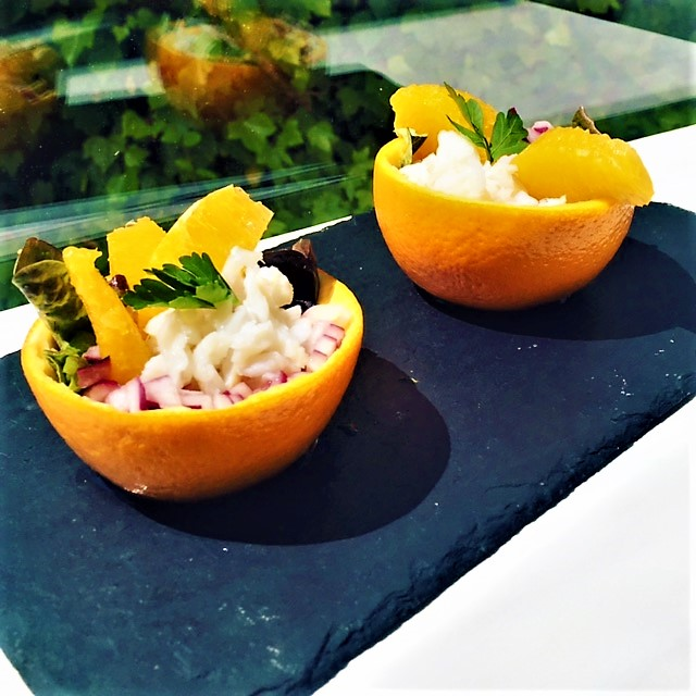 Ensalada de bacalao con naranja