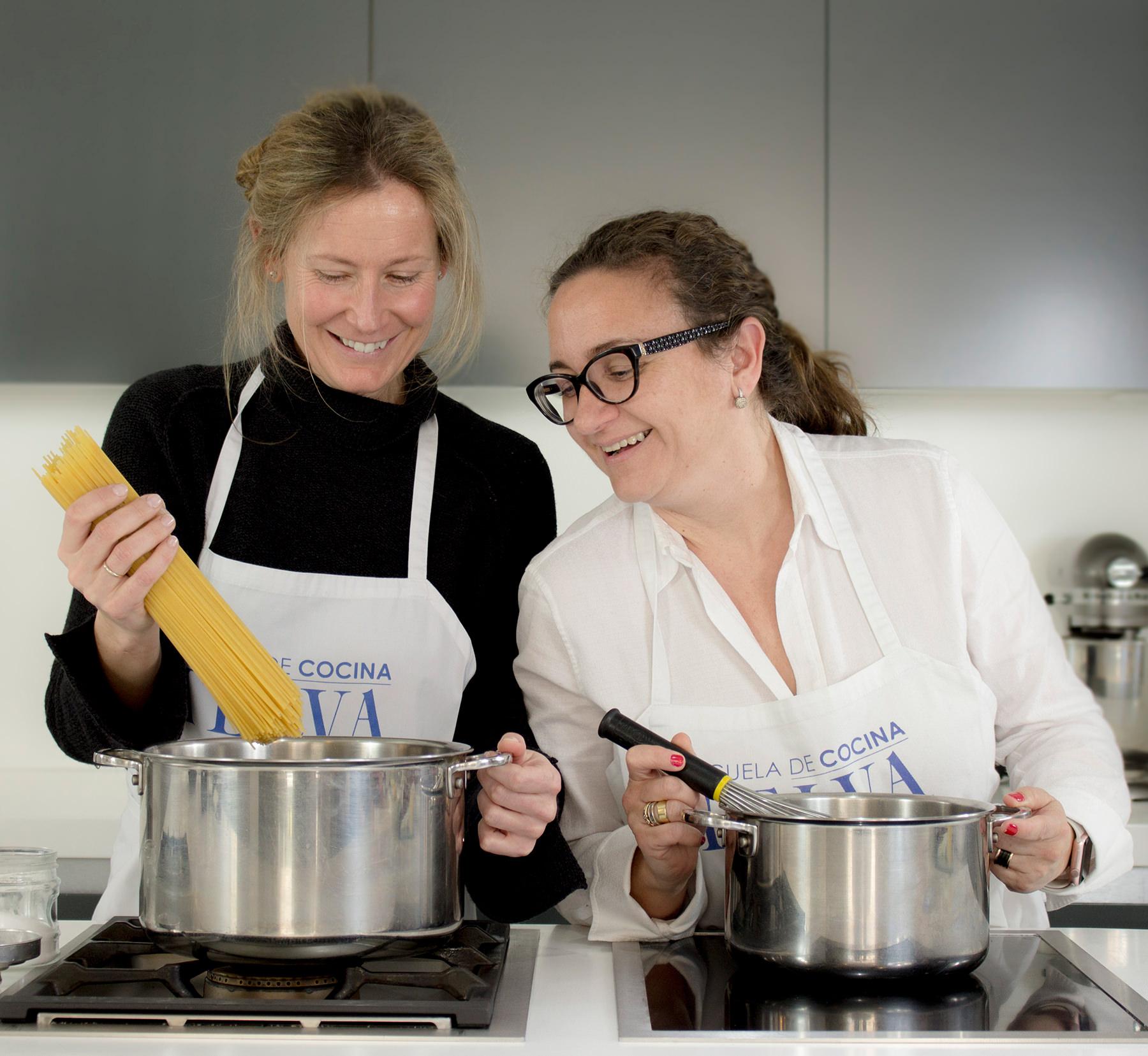 Clases de cocina a medida en Madrid para grupos - Escuela de cocina TELVA