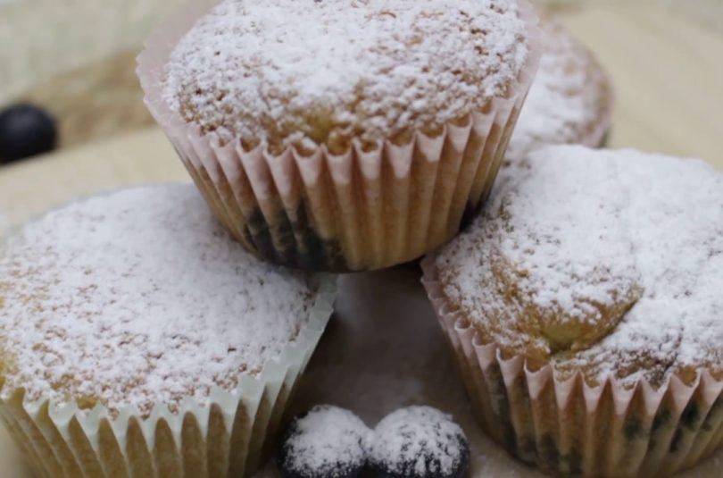 Muffin de arándanos sin glúten