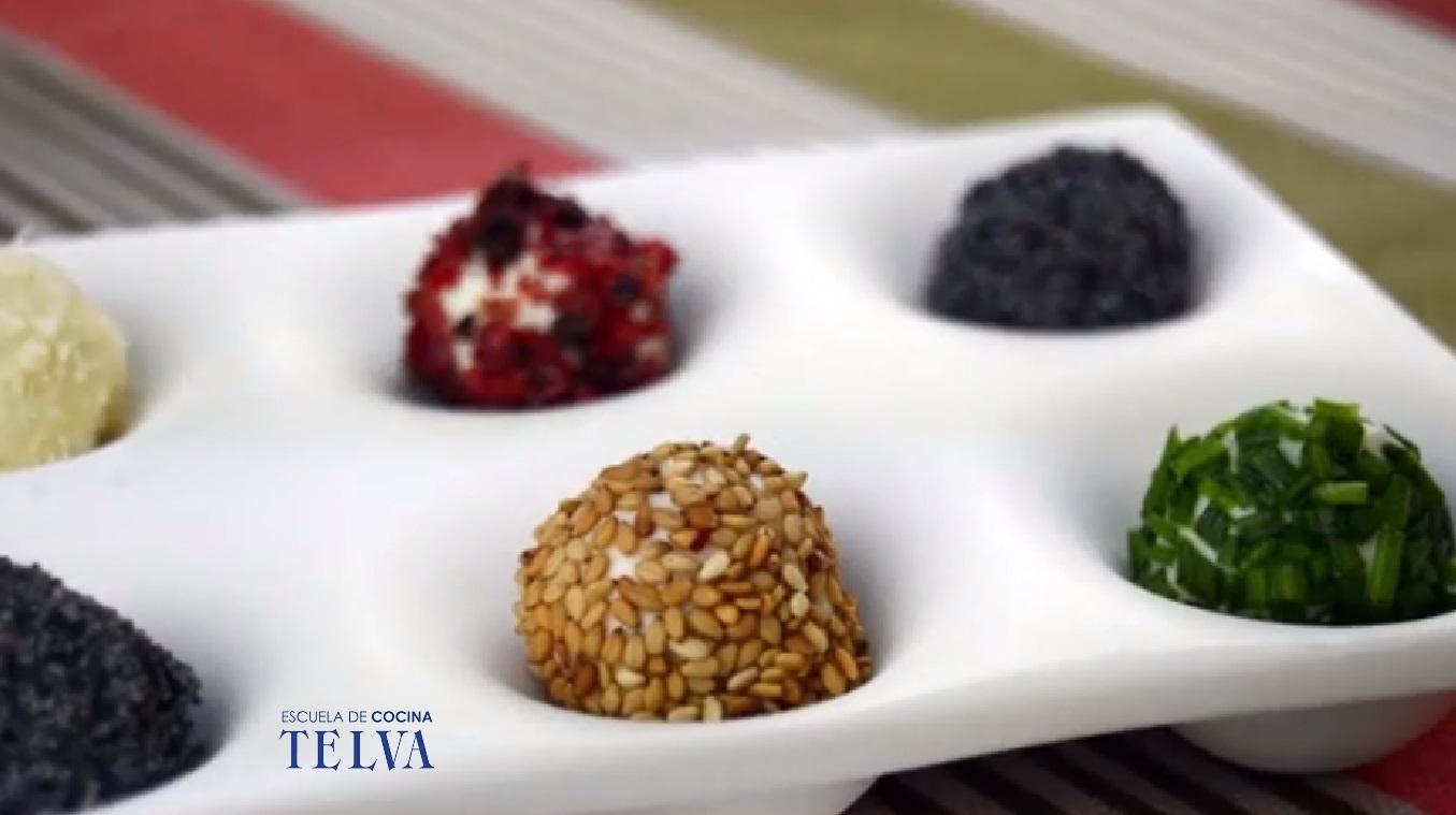 Trufas de queso de cabra - Receta TELVA - Escuela de cocina TELVA - Recetas TELVA - Cocina TELVA - Recetas que salen