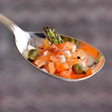 Cursos de cocina en Barcelona Escuela de cocina TELVA Tartar de salmon