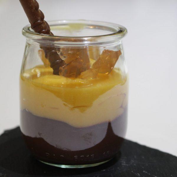 Curso de técnicas avanzadas de la Escuela de cocina TELVA Programa Crema de Chocolate