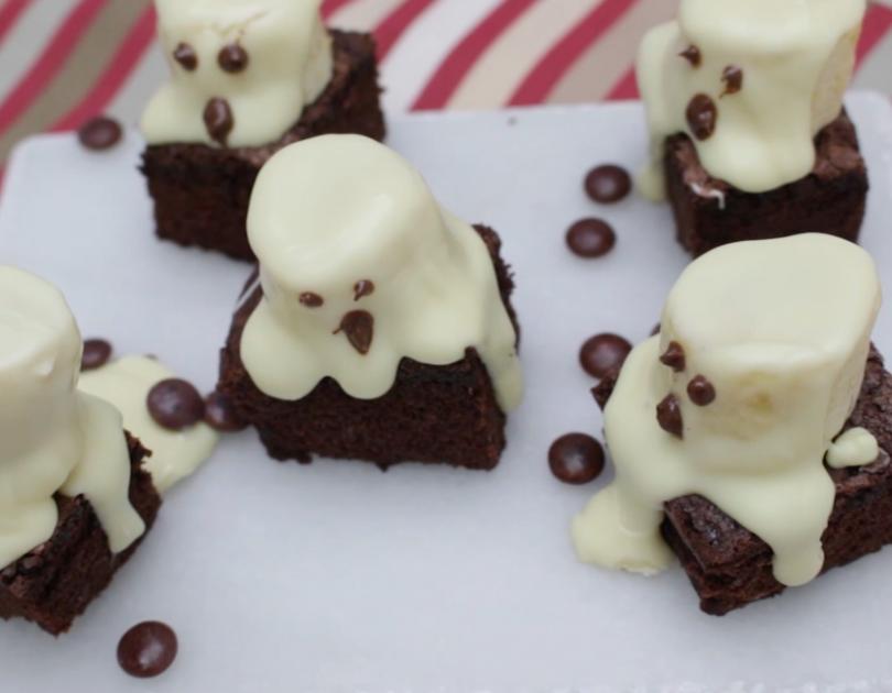 Fantasmitas de brownie Escuela de Cocina TELVA Recetas