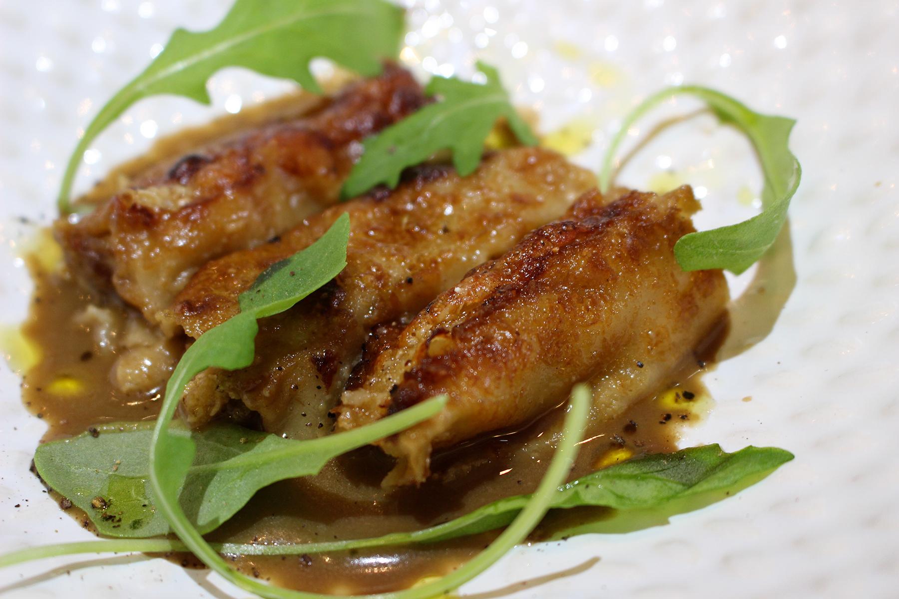 Receta canelones de manzana y foie con salsa de boletus Escuela de cocina TELVA