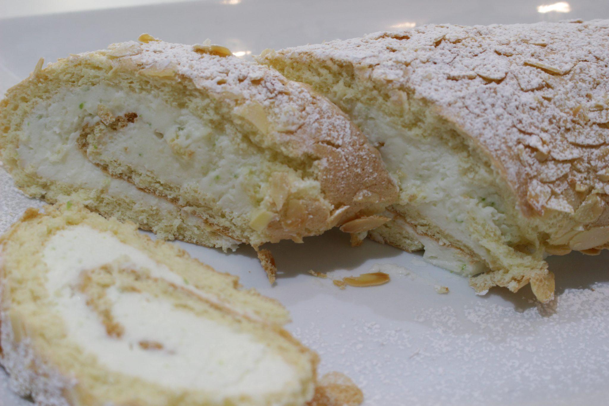Brazo de gitano con queso y lima Escuela de cocina telva