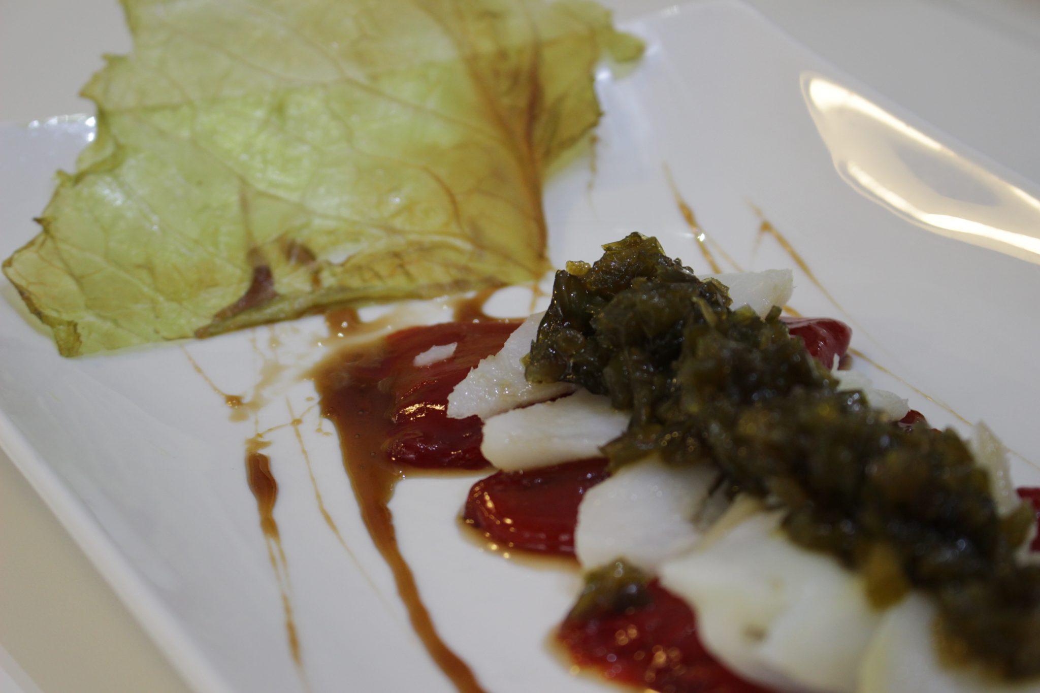 Taco de bacalao confitado a los dos pimientos Escuela de cocina telva