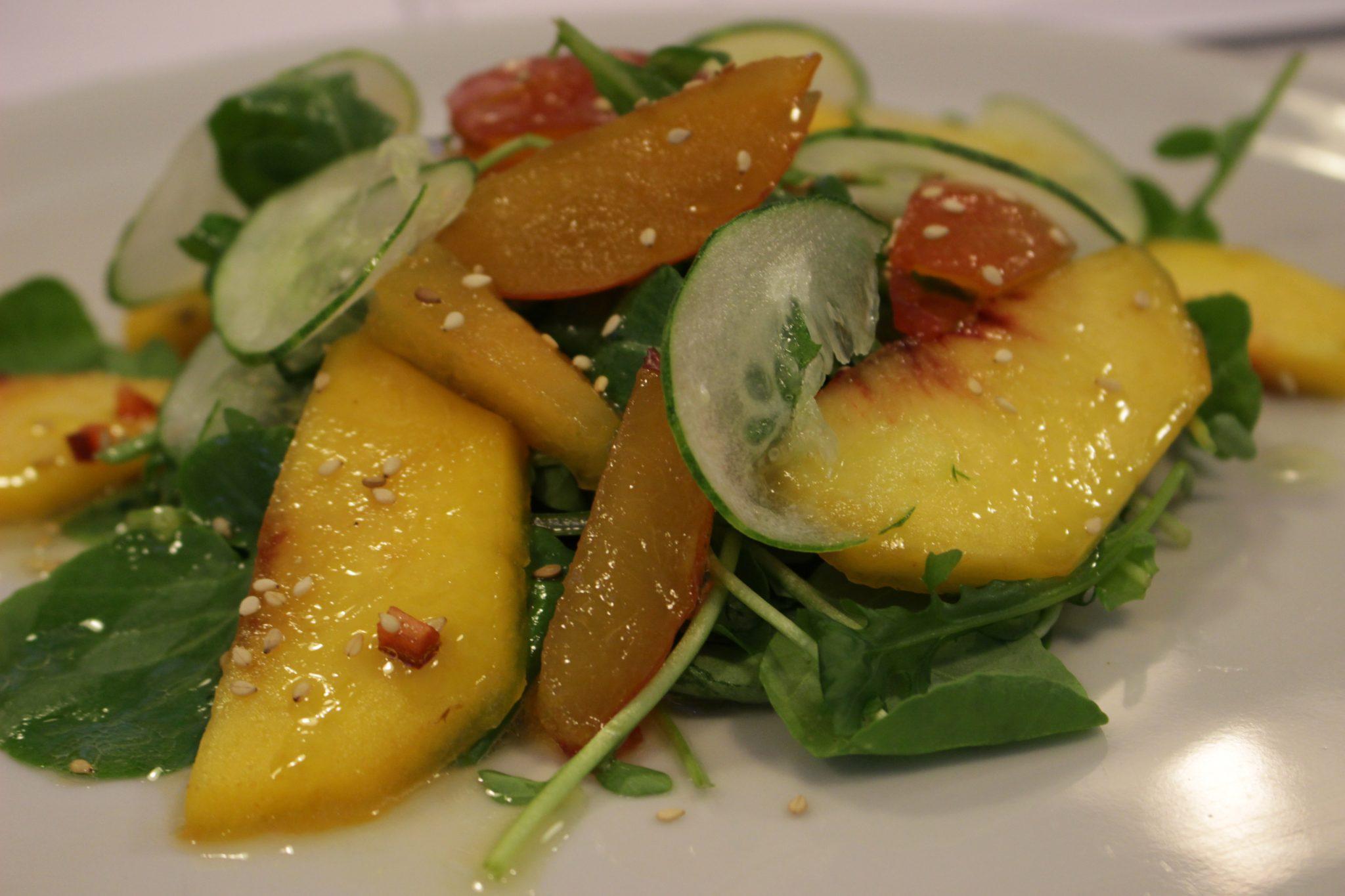 ensalada de berros y rúcula con frutas Escuela de cocina telva