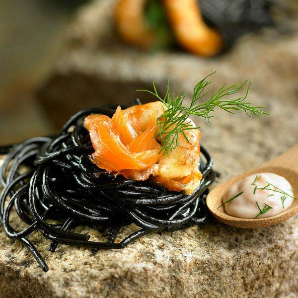 Espaguetis negros Escuela de Cocina TELVA