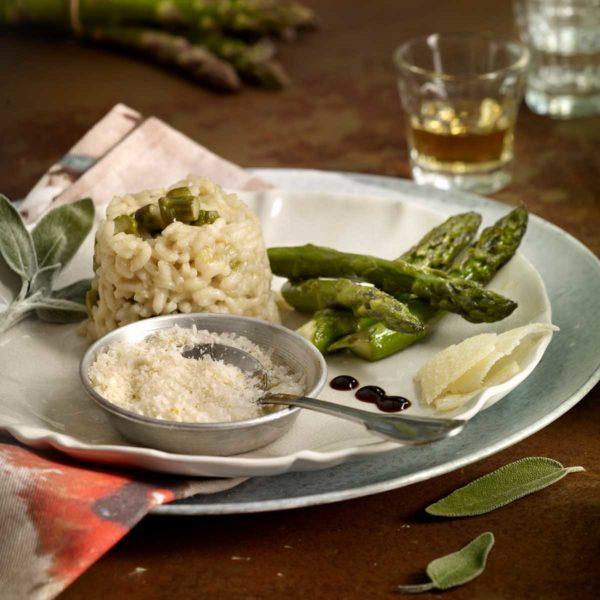 Risotto de espárragos verdes Escuela de Cocina TELVA