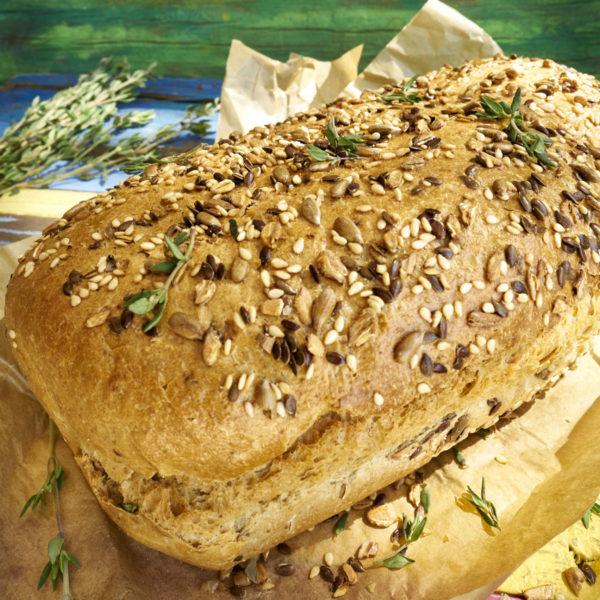 Hogaza de pan de semillas y tomillo Escuela de Cocina TELVa