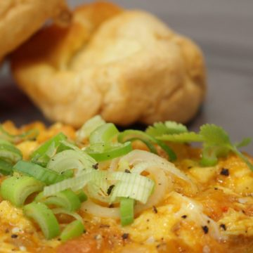 Huevos revueltos picantes escuela de Cocina TELVA