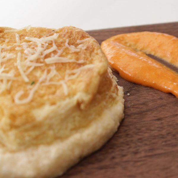 Tortilla suflada de queso y hierbas Escuela de Cocina TELVA