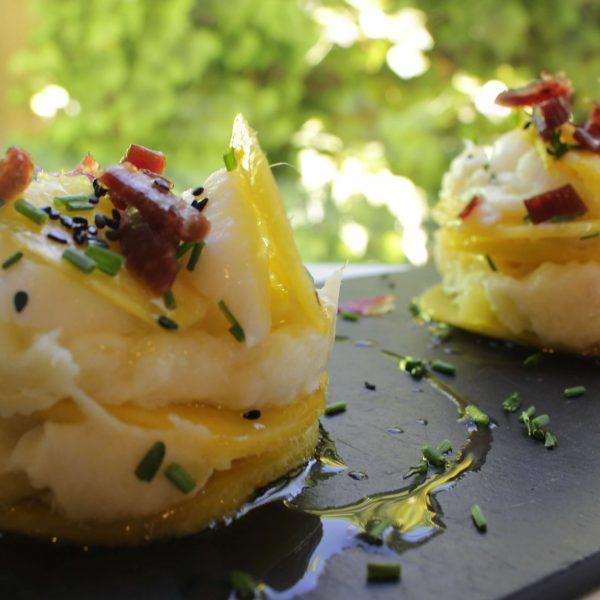 1Milhojas de mango y brandada de bacalao 19-2