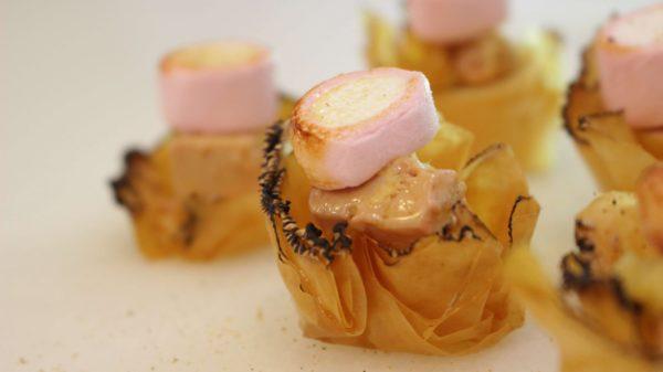 Tartaleta de foie con nube caramelizada Escuela de Cocina TELVA