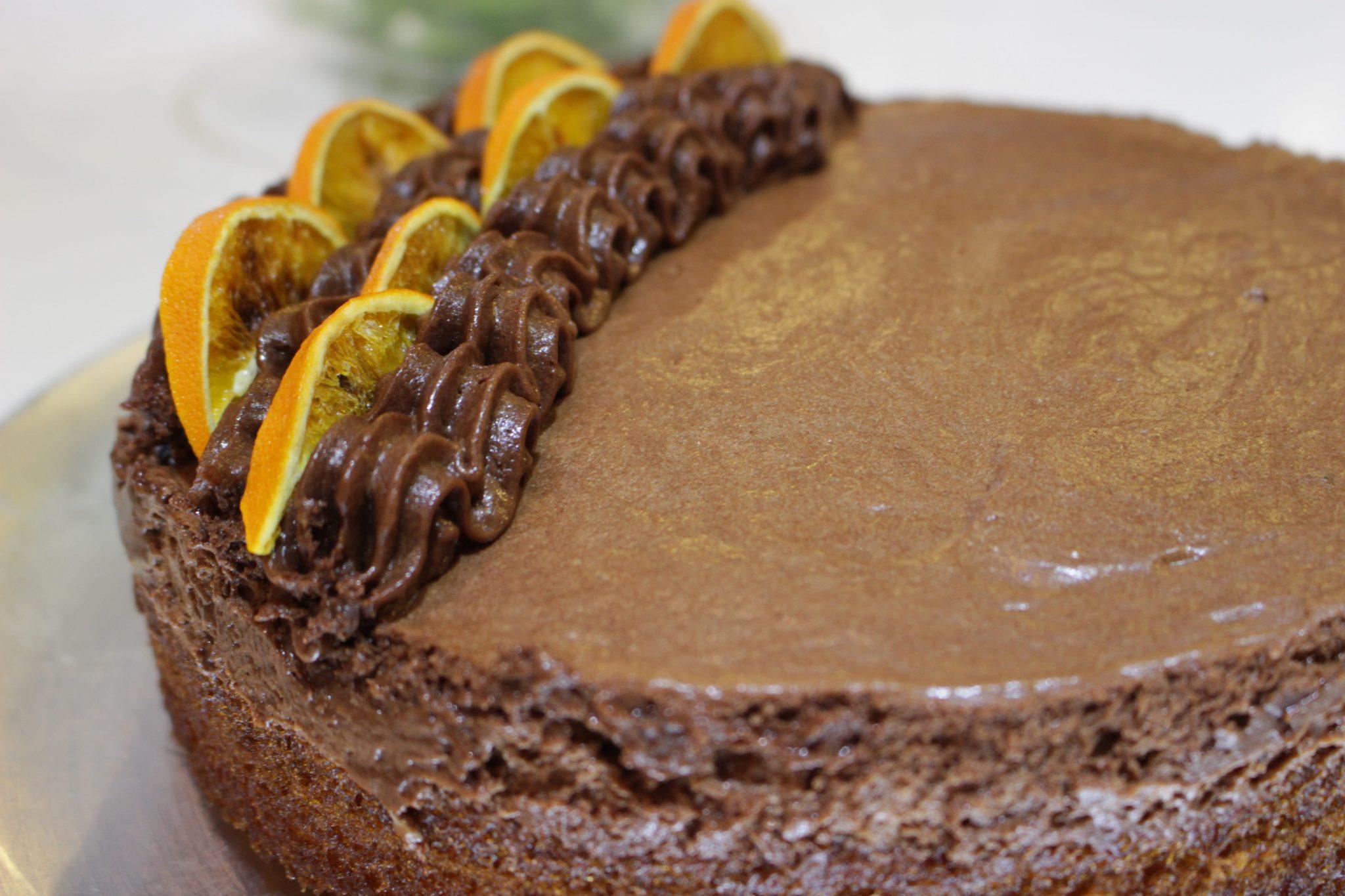 Bizcocho de naranja con Mousse de chocolate Escuela de Cocina TELVA