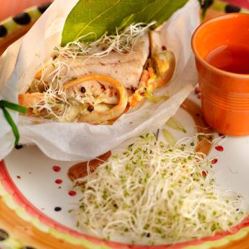 Lomos de trucha en papillote Escuela de Cocina TELVA