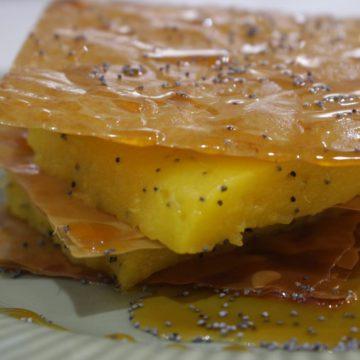 Milhojas de mango y semillas de amapola escuela de cocina telva