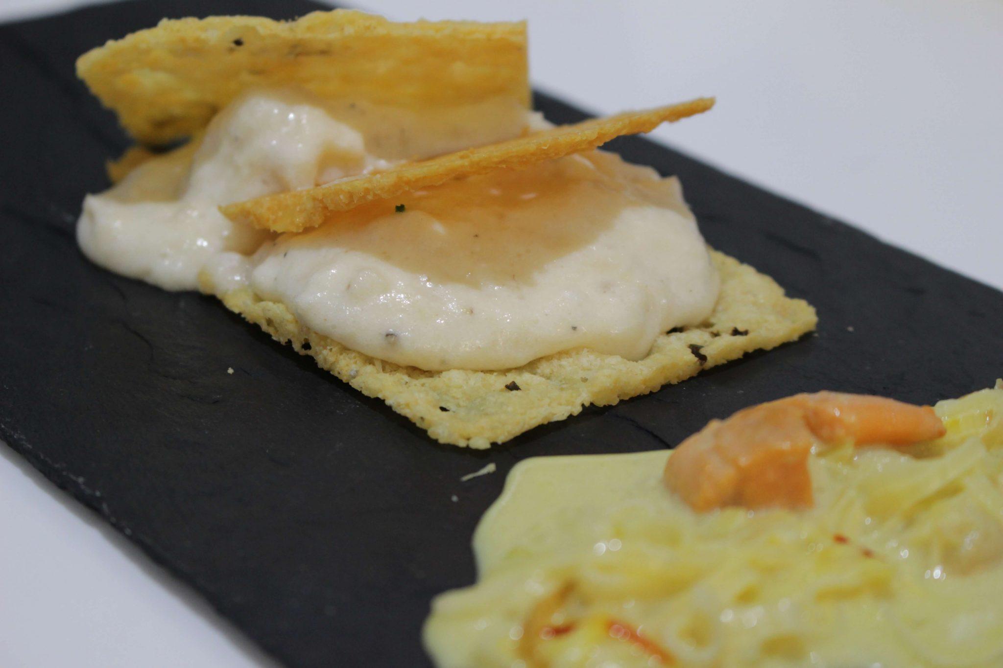 milhojas de pescado blanco con y tejas queso manchego escuela de cocina telva