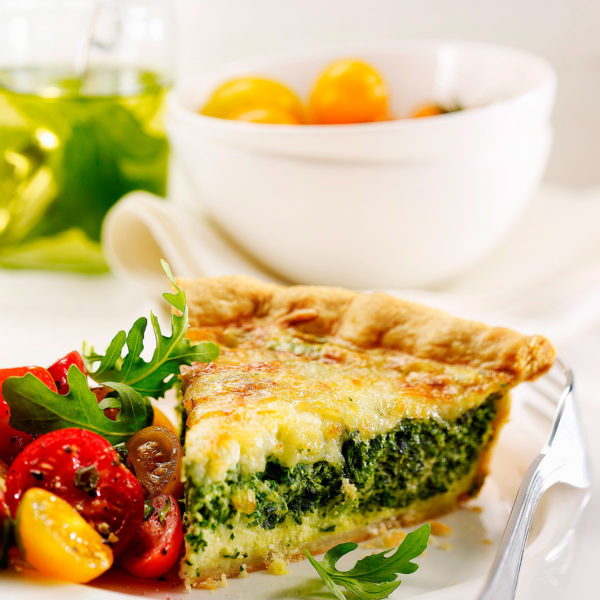 Tarta de espinacas Escuela de Cocina TELVA