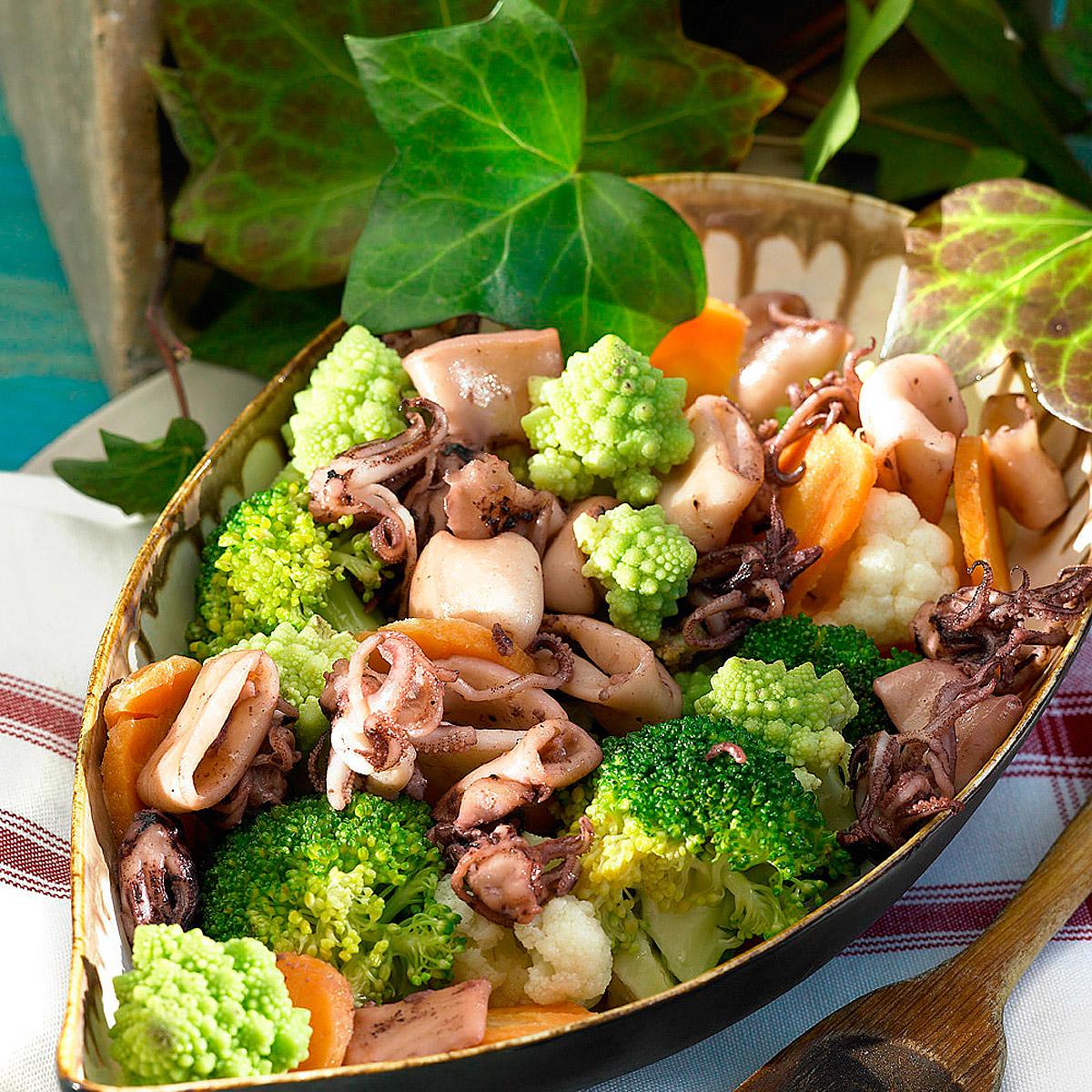 Puntillas con verduras Escuela de cocina telva